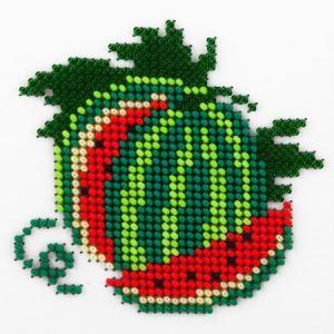 Fruit watermelon cross stitch.