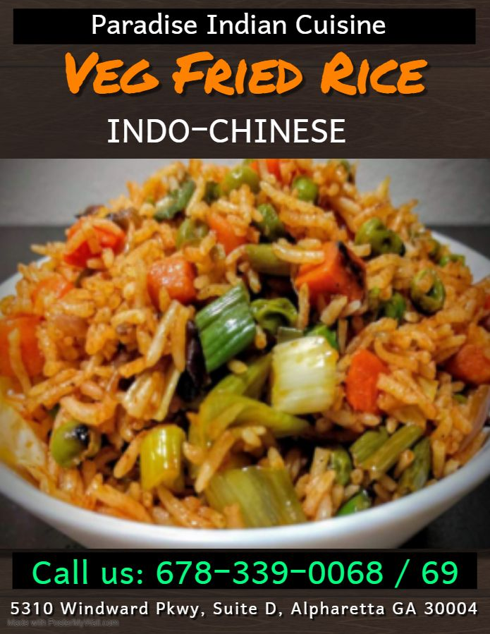 Veg Fried Rice Cuisine Indian Cuisine Yum Yum Chicken