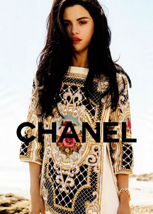 Fake CHANEL ad. haha But this has gotten a pretty similar vibe to it!   Selena Gomez for Elle July 2012 issue.