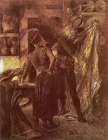 Faust - Wikipedia, the free encyclopedia  Pan Twardowski and the devil. Drawing by Michał Elwiro Andriolli.