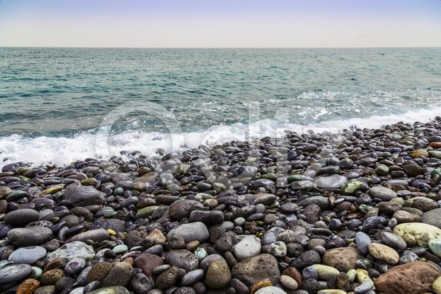 Qdiz Stock Photos Stone Coast of Ocean with Waves,  #Atlantic #beach #coast #coastline #day #exposure #foam #horizon #island #landscape #long #nature #ocean #pebble #rock #rocky #sea #seascape #seashore #shore #sky #skyline #spring #stone #summer #Tenerife #water #wave #wet