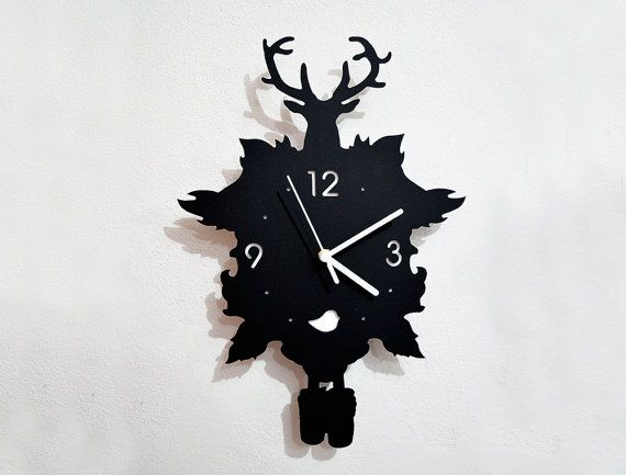 This is a silhouette of old traditional cuckoo clock, adding modern themes on it :)  If you like a different Acrylic color or Clock hands Please add