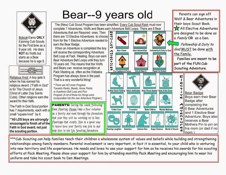 New Cub Scout Stuff: New Cub Scout Bear Basics