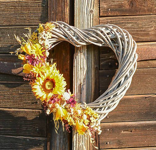 Hydrangea / Veľké letné srdce so slnečnicou