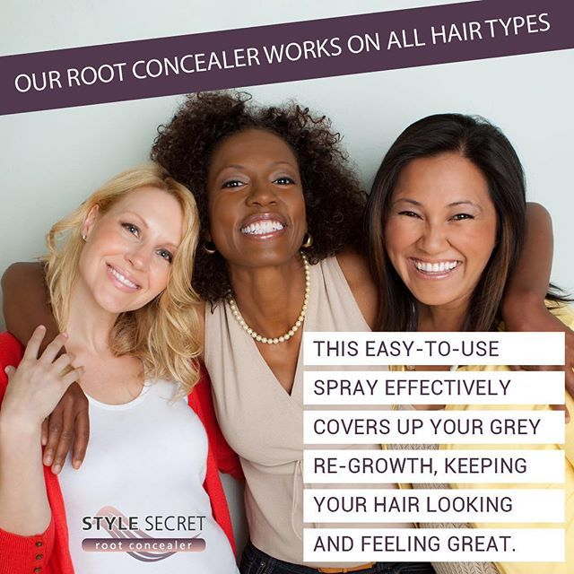 Our root concealer works on all hair types. Keeps your hair looking and feeling great! . . . #rootconcealer #beautytips #stylesecret #beauty #hairtips #coveryourgrey www.stylesecret.co.za