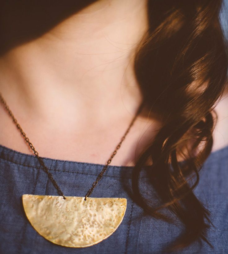 Athena Brass Pendant Necklace   Jewelry Necklaces   The Home Ground   Scoutmob Shoppe   Product Detail
