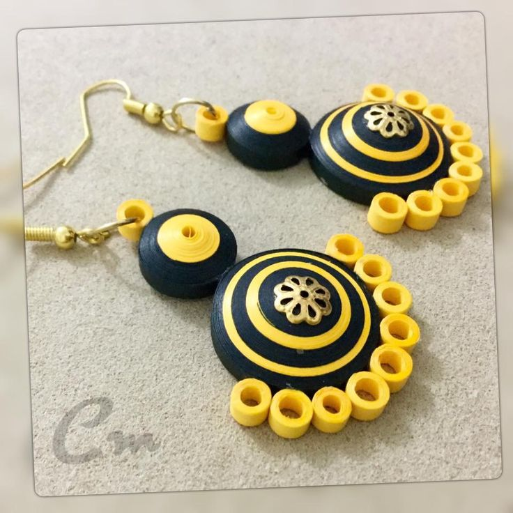 489 best images about quilling paper bead earrings 4 on for Paper quilling work