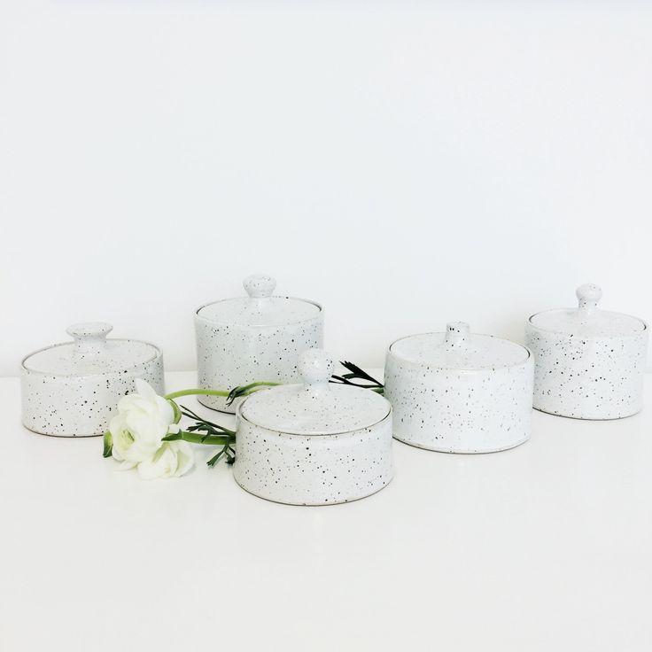 A personal favourite from my Etsy shop https://www.etsy.com/se-en/listing/501268802/ceramic-jars-eggshell-glaze-white-glaze