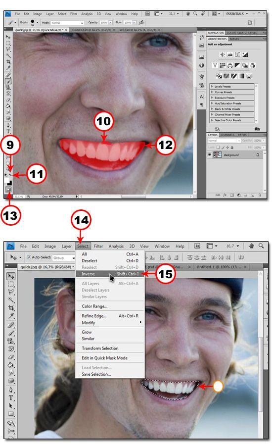 Использование Быстрой маски для точного выделения объекта