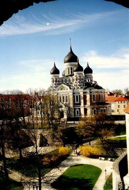 Nevski Cathedral, Tallinn, Estonia...  Tallinn [1], the capital of Estonia, lies on the southern coast of the Gulf of Finland, only 70 km (43 mi) south of Helsinki.