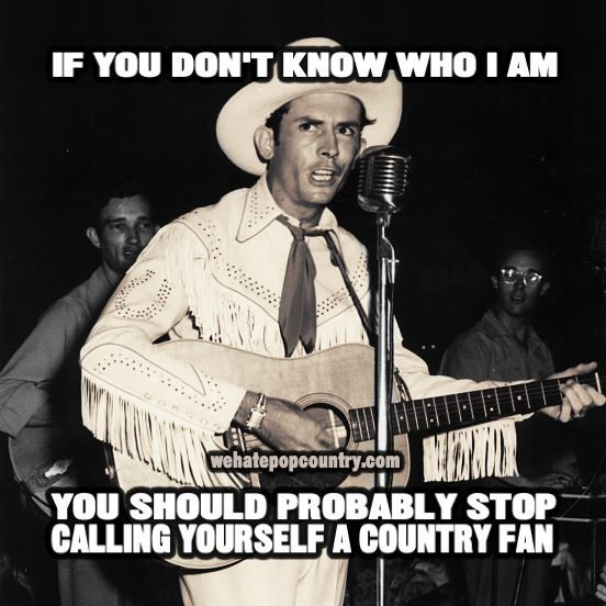 TRUTH. The great OLE HANK WILLIAMS