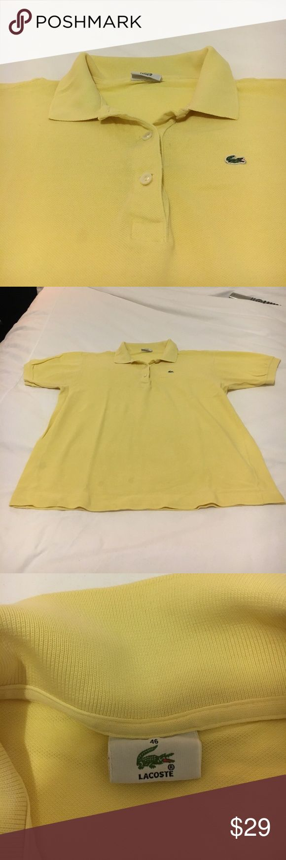 Lacoste classic fit pique polo shirt Lacoste classic fit pique polo shirt. Yellow. Good condition. Lacoste Tops Tees - Short Sleeve