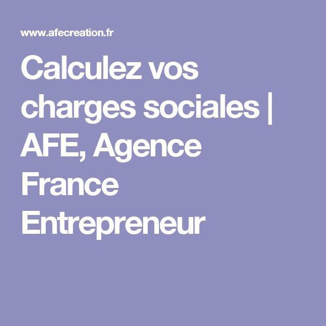 Calculez vos charges sociales | AFE, Agence France Entrepreneur