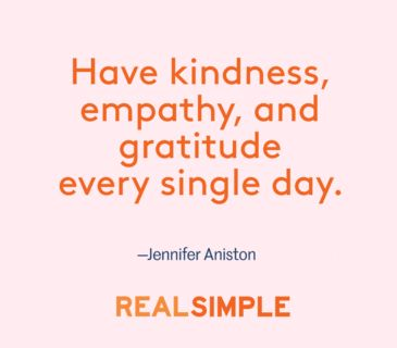 Heartwarming words from Jennifer Aniston.