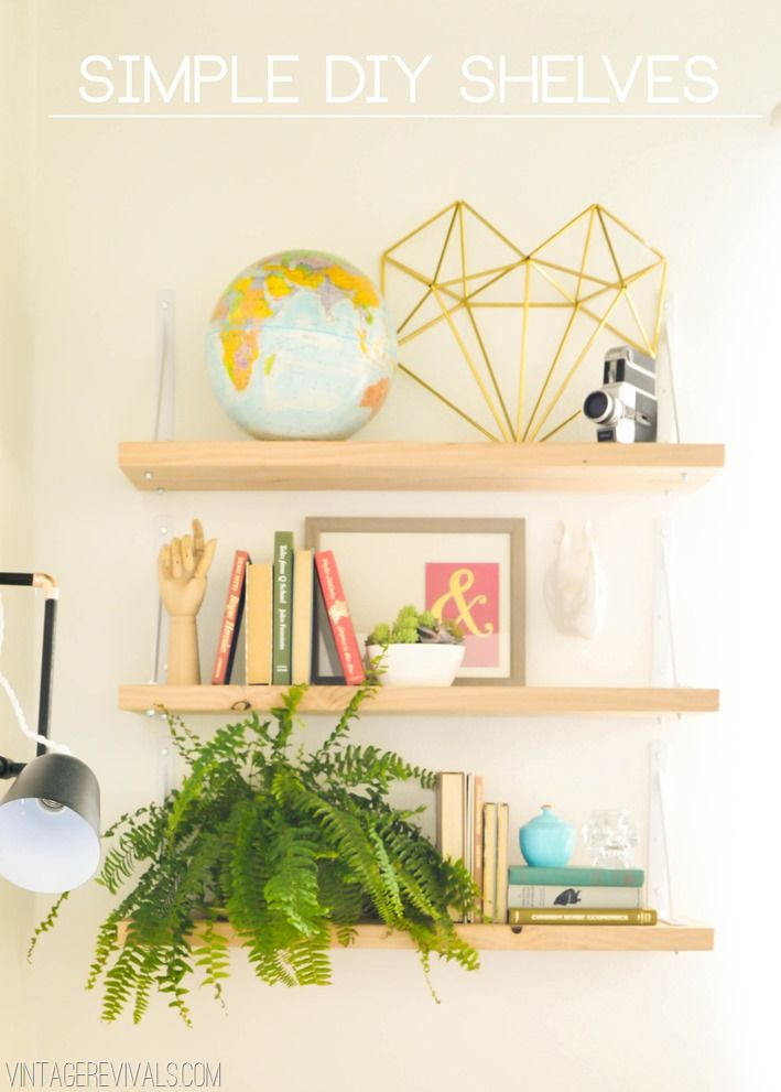 Simple DIY Shelves (love that all of these supplies came from Home Depot!) #DIY