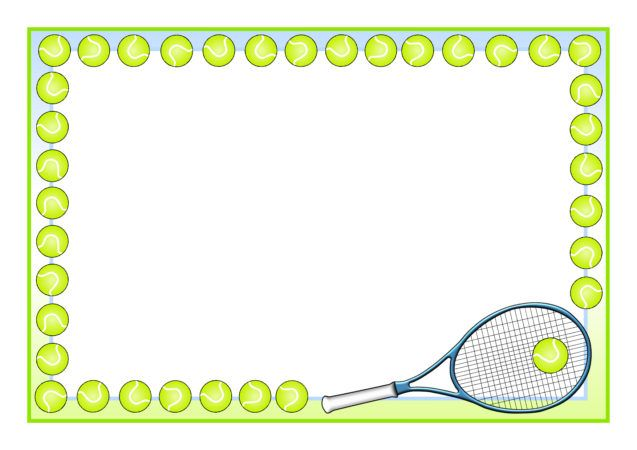 9 Tennis Clipart Border For Free Download On Ya Webdesign Tennis Boxes And Bows Page Borders