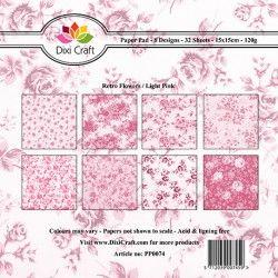 Dixi Craft - Mały bloczek papierów do scrapbookingu - Light Pink