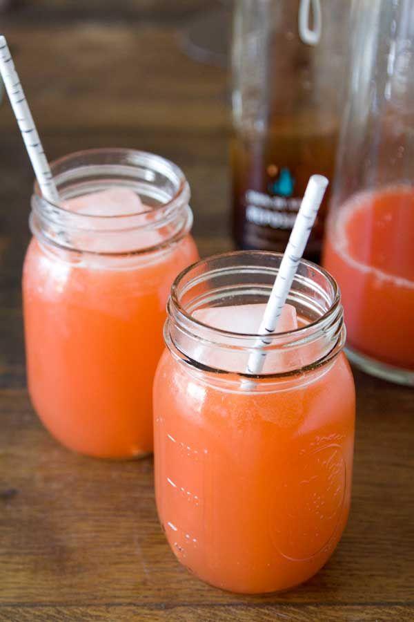 Sunburnt Margaritas :(bloedsinaasappel, appelsien, tequila, citroensap, pepertje, agavesiroop of honing, ijs)