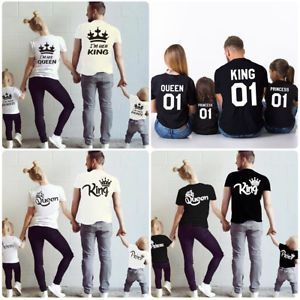 Family-Matching-Shirts-Father-Mother-Daughter-Son-King-Queen-Prince-Princess-Top