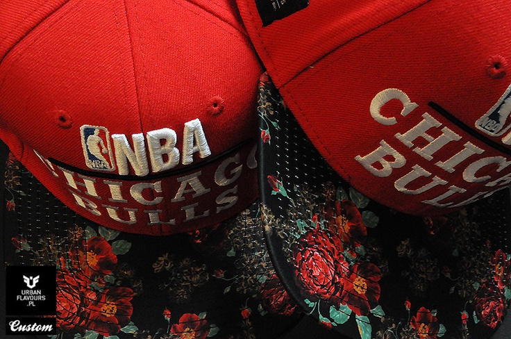 Chicago Bulls Roses MItchell And Ness Custom Snapback