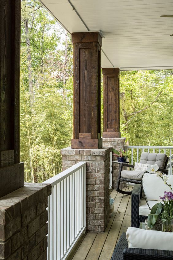 how to build brick column on a porch