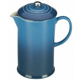 Le Creuset Marseille Blue French Coffee Press For $69.95   Everten