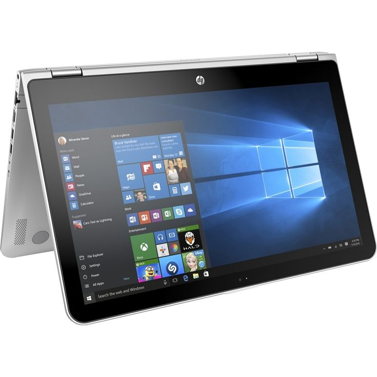 """HP - Pavilion x360 2-in-1 15.6"""" Touch-Screen Laptop - Intel Core i5 - 6GB Memory - 1TB Hard Drive - Natural silver, Ash silver, X360 15-BK075NR"""