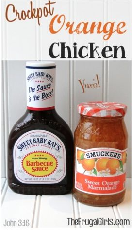 Crockpot Orange Chicken, I would probably get a local made marmalade instead of …