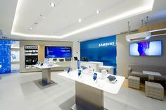 Retail Design | Shop Design | Electrical Store Interior | First Samsung Mobile Store Opens in Paris