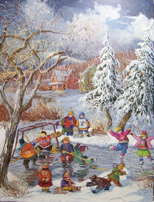 Hockey Painting Peinture - Yahoo Canada Image Search Results