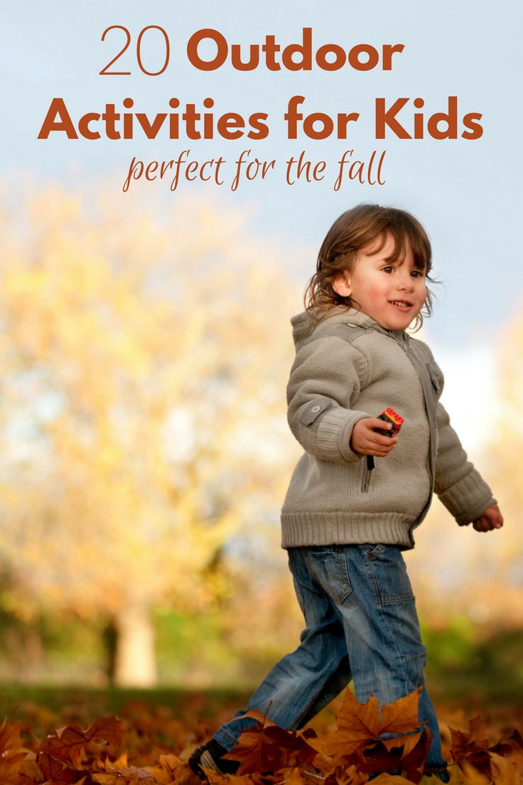 Outdoor Activities For Kids Perfect for the Fall - No Time For Flash Cards