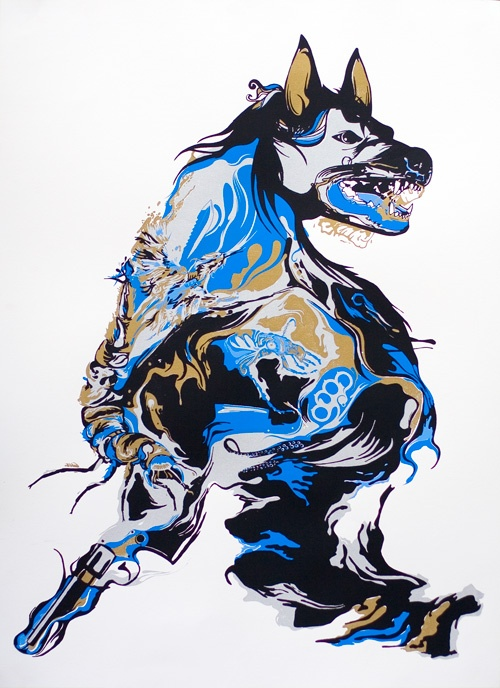 Hyena art piece