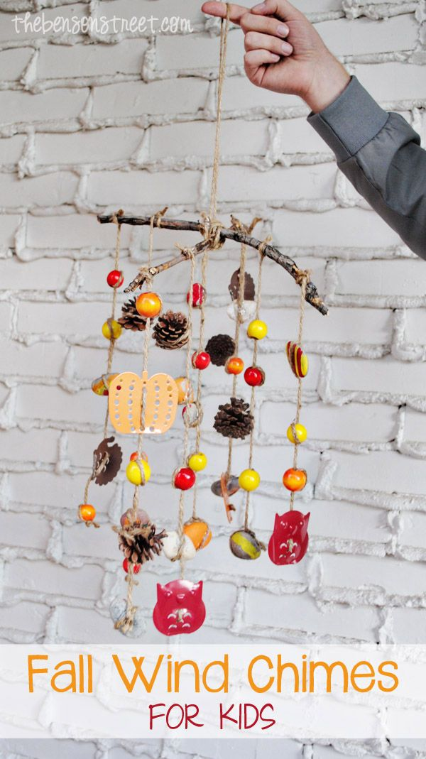 Cute Fall Craft for Kids Fall Wind Chimes diy rhs