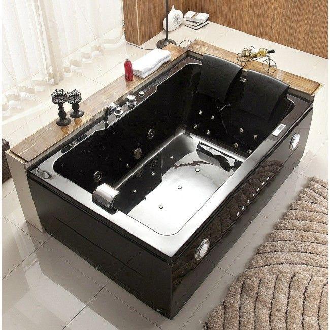 Juno Owen Black Jacuzzi Whirlpool Jacuzzi Bathtub Black Bathtub