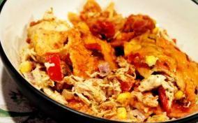Cheesy Chicken Enchilada Casserole recipe for Cinco de Mayo