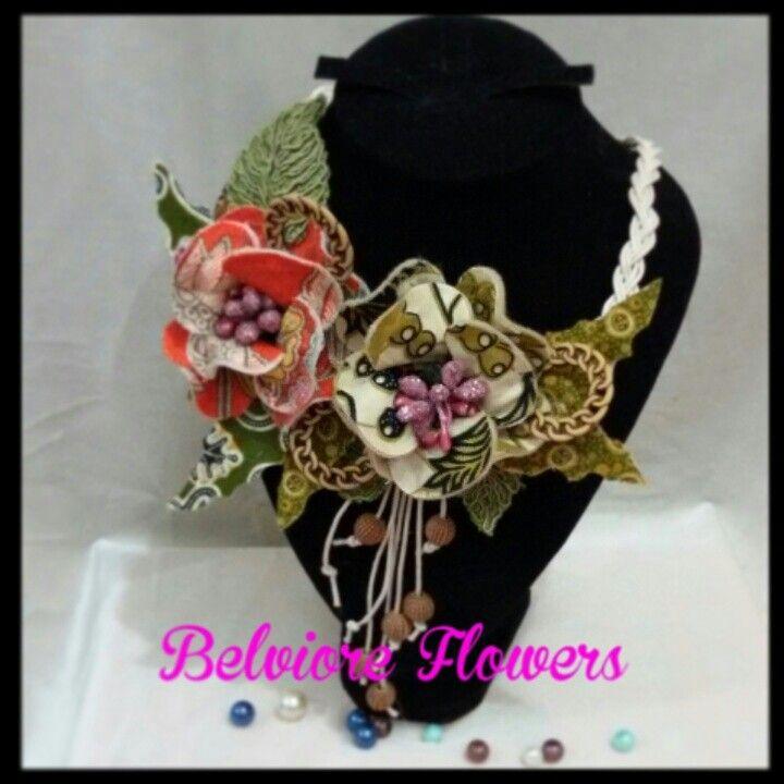 Batik necklace. #Indonesia#flowers