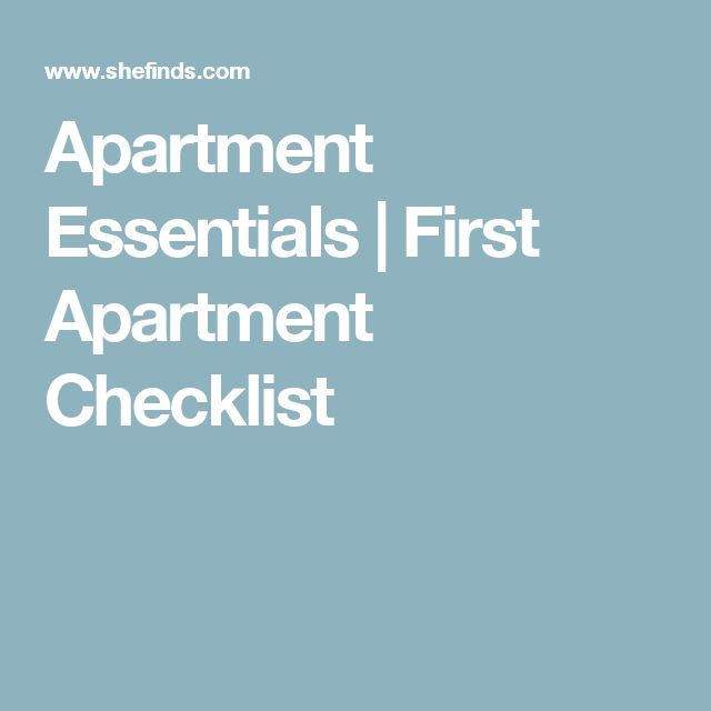 The 25+ best First apartment essentials ideas on Pinterest ...