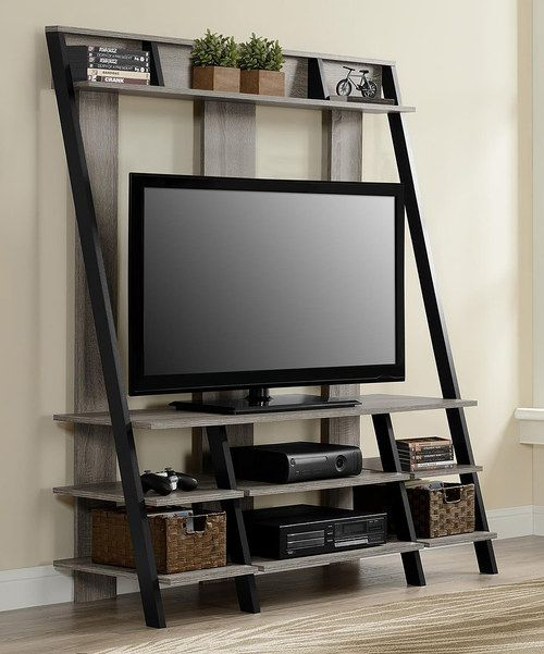 Look at this Sonoma Oak Ladder Style Entertainment Center on #zulily today!