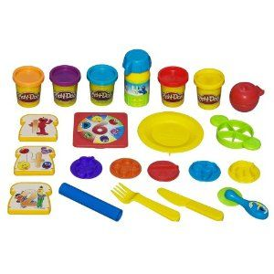 Sesame Street 1-2-3 Lunch Box Fun Set by Play-Doh. $14.99. No matter how you slice it, you can encourage your child to count and even enjoy the healthy snacks you make with the 1-2-3 Lunch Box Fun set. Or you can make  inches sandwiches inches  and cut them in half. Use the pizza cutter and roller to make  inches pizza, inches  then count the slices. Set includes roller, knife, fork, plate, pizza cutter, pizza roller, apple cutter, number stampers, bread slice cutt...