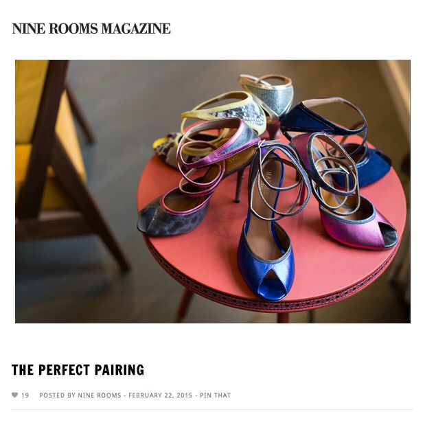 """Malone Souliers in 9 Rooms Magazine """"As every season resumes, the quest for another perfect shoe is the saga that is always filled waiting for that """"Cinderella moment"""". The second it was stitched together it was the perfect match between the sole of the foot and a shoe, between us and those who elevate us above the earth in the coming months (except that we would prefer to discover, in this case, that they were made of leather, not, say, glass like in the old legends). But…what happens…"""