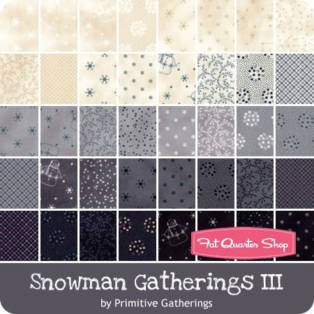 Snowman Gatherings III Fat Quarter Bundle Reservation <br/>Primitive Gatherings for Moda Fabrics
