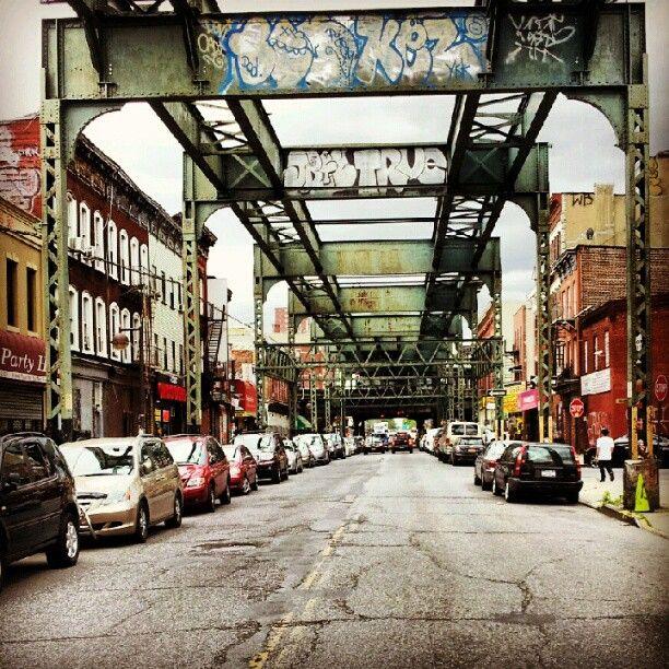 """Underneath the """"J"""" train on myrtle ave in #Bushwick, #Brooklyn"""