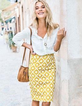 Modern Pencil Skirt Boden
