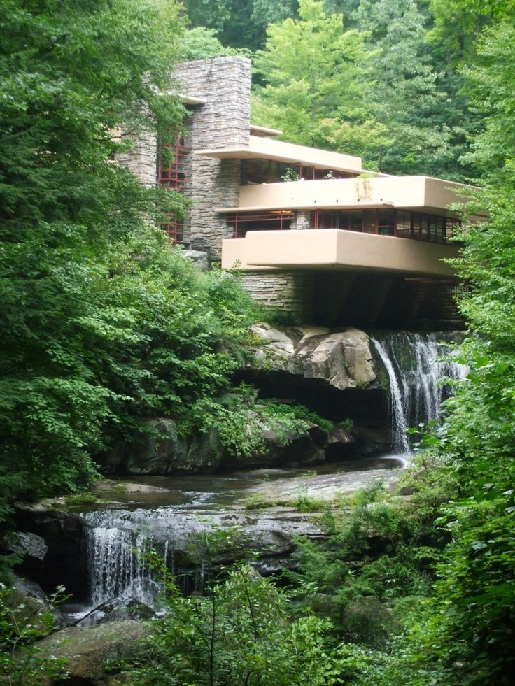 My art teacher in HS loveddd Francis Lloyd Wright, notably this home.  Flawless design.
