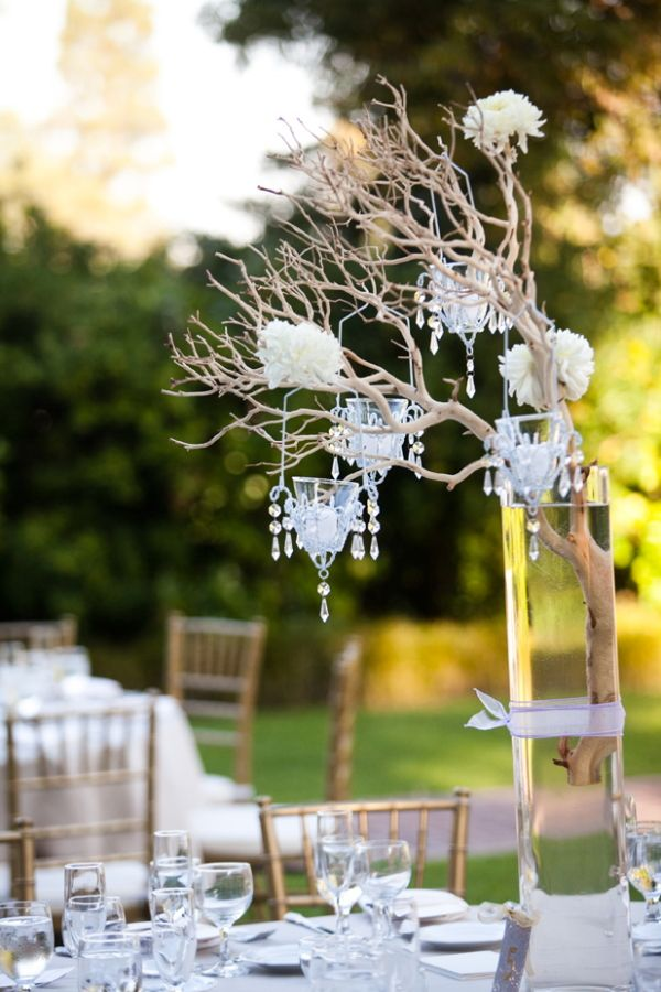 30 best treebranches centerpiece images on pinterest wedding glamorous garden rose wedding aloadofball
