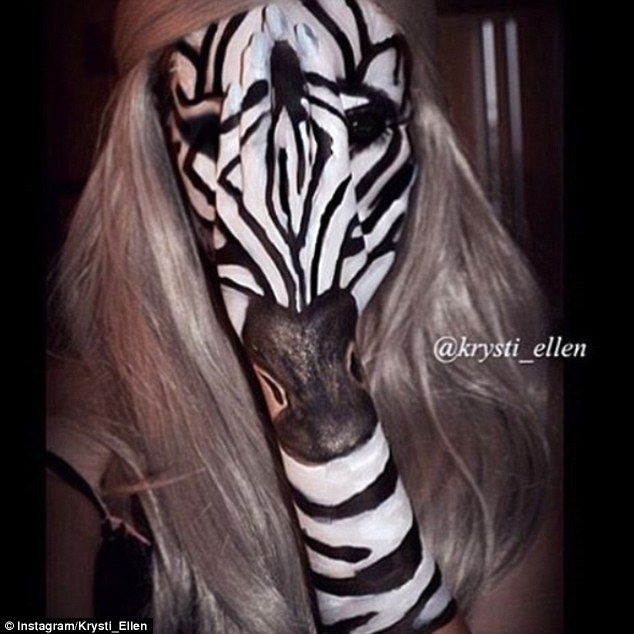 Clever: She has also transformed herself into a number of animals including…