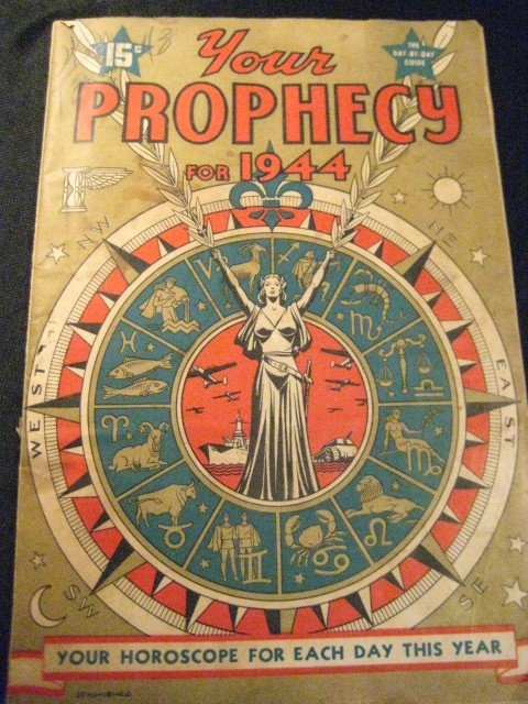 Your Prophecy for 1944 Magazine Astrology Fortune Teller Occult Zodiac