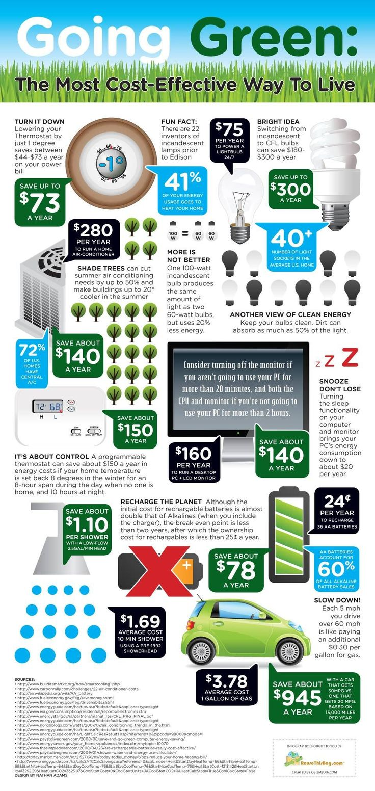 Infographic: Why green is the most cost-effective way to live | MNN - Mother Nature Network #Eco-Friendly