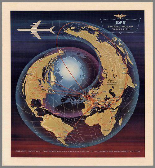 SAS Spiral-Polar Projection. Created Especially for Scandinavian...
