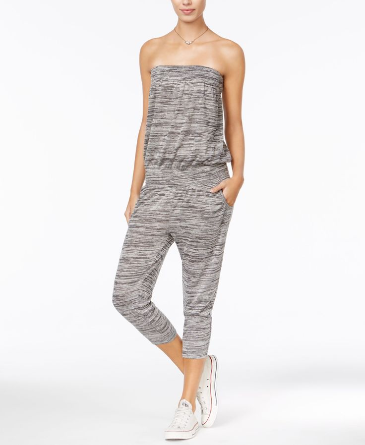 American Rag Strapless Cropped Jumpsuit, Only at Macy's